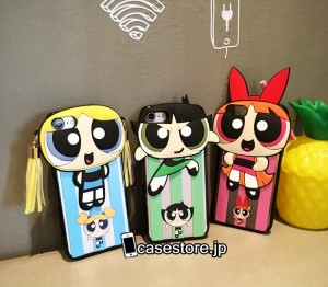 売れ筋のおしゃれなiphone7ケース パワーパフガールズiphone6sアイフォン6plusソフト携帯カバー可愛い女の子立体ケースオシャレ